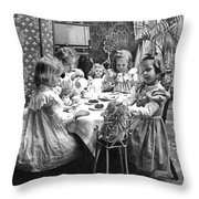 Tea Party, C1902 Throw Pillow