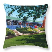 Tea Rooms At The Peoples Park Throw Pillow