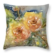 Tea Roses Throw Pillow