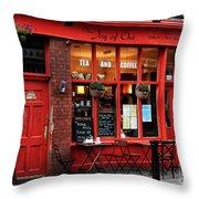 Tea Shop Throw Pillow