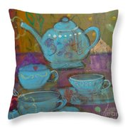Tea Spot Throw Pillow