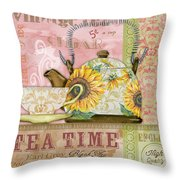 Tea Time-jp2579 Throw Pillow