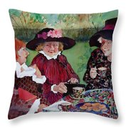 Tea With The Girls Throw Pillow
