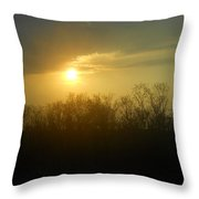 Teacher And Class Throw Pillow