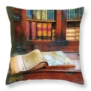 Teacher - Geography Book Throw Pillow by Susan Savad