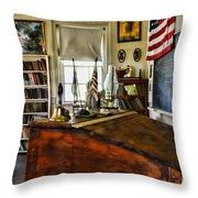 Teacher - Vintage Desk Throw Pillow