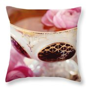 Teacupful Throw Pillow