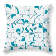 Teal Glyphs  Throw Pillow