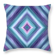 Teal One Diamond Dreams Throw Pillow