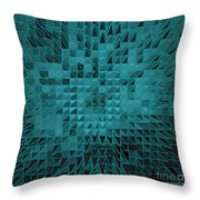 Teal Quilt Throw Pillow