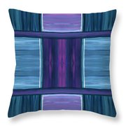 Teal Square Dreams Throw Pillow