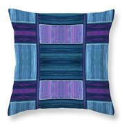 Teal Square Dreams Two Throw Pillow