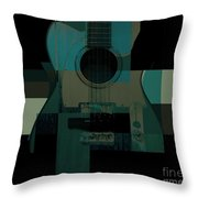 Teal We Play Again Throw Pillow