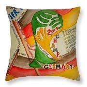 Team Germany Fifa Champions Throw Pillow