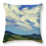 Teanaway Passing Clouds Throw Pillow