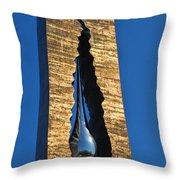 Teardrop  9 - 11 Memorial Bayonne N J  Throw Pillow