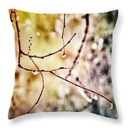 Teardrops Of The Nature Throw Pillow