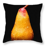 Tears Of A Sad Pear Throw Pillow by Andee Design