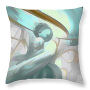 Teary Dreams Pastel Abstract Throw Pillow