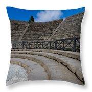 Teatro Grande Or Grand Amphitheater Pompeii Italy Throw Pillow