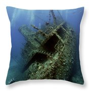Technical Divers On The Giannis D In The Red Sea  Egypt Throw Pillow