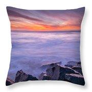 Technicolor Dusk Throw Pillow