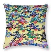 Technicolour Nightmare Throw Pillow