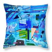 Techno Cool Throw Pillow