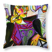 Technology And Picasso Throw Pillow
