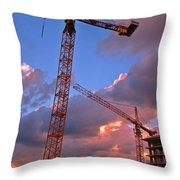 Technology Contrasts With Nature Throw Pillow