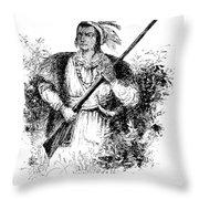 Tecumseh, Shawnee Indian Leader Throw Pillow