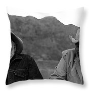 Ted Degrazia And Broderick Crawford Gallery In The Sun Tucson Arizona 3-1969-2009   Throw Pillow