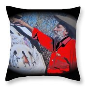 Ted Degrazia Los Ninos Oil Petley Post Card C.1967-2013 Throw Pillow