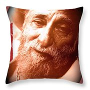 Ted Degrazia Portrait By Henry Redl Circa 1980-2013 Throw Pillow