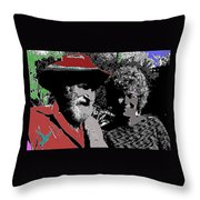 Ted  Degrazia  Singer Sammi Smith  Dick Frontain Photo Gallery In The Sun Tucson Arizona C.1977-2013 Throw Pillow