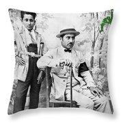 Ted Degrazia With  Uncle  Gregorio Circa 1920's-2013 Throw Pillow