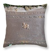 Ted Knight Grave Throw Pillow