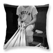 Ted Williams Throw Pillow by Gianfranco Weiss