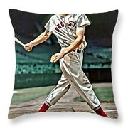 Ted Williams Painting Throw Pillow