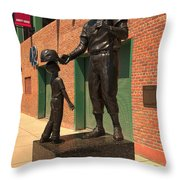 Ted Williams Throw Pillow by Paul Mangold