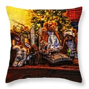 Teddy And Friends Throw Pillow