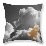 Teddy Bear Cloud Throw Pillow