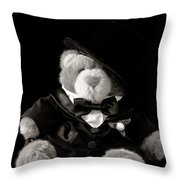 Teddy Bear Groom Throw Pillow by Edward Fielding