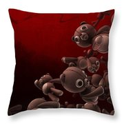 Teddy Bears Crowd Throw Pillow by Gianfranco Weiss