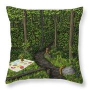 Teddy Bears' Picnic Throw Pillow