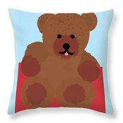 Teddy Snapshot Throw Pillow