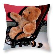 Teddy's Chair - Toy - Children Throw Pillow