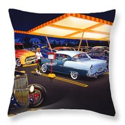 Teds Drive-in Throw Pillow