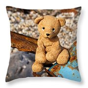 Ted's On The Rust Pile Throw Pillow