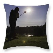 Teeing Off Throw Pillow